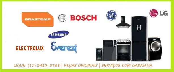 Assistência Técnica: Lg Electrolux, Ge Brastemp, Bosch